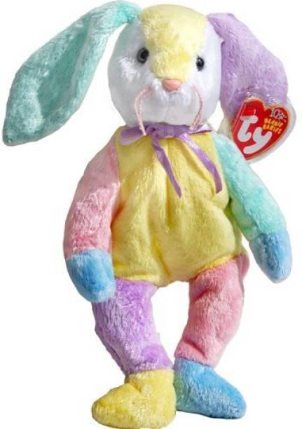 Beanie Babies - Rabbit Dippy The Patchwork Easter Bunny Rabbit - Ty Beanie  Babies - 8 c419401bfa18