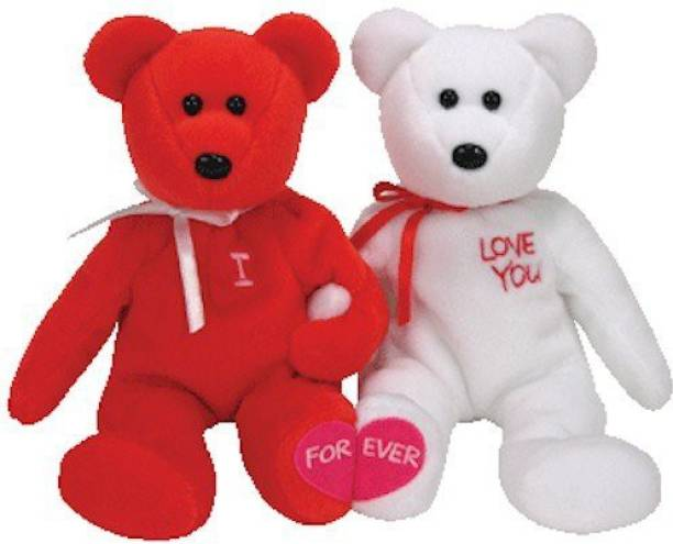 2307316544b ty Beanie Babies - I Love You The Bears (Set Of 2) - 2.5