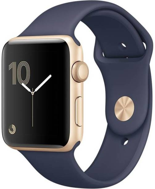 APPLE Watch Series 2 - 38 mm Gold Aluminium Case with Midnight Blue Sport Band