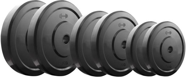 KRX 20 Kg Rubber Black Weight Plate