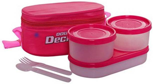 MILTON Double Decker insulated lunch box 3 Containers Lunch Box