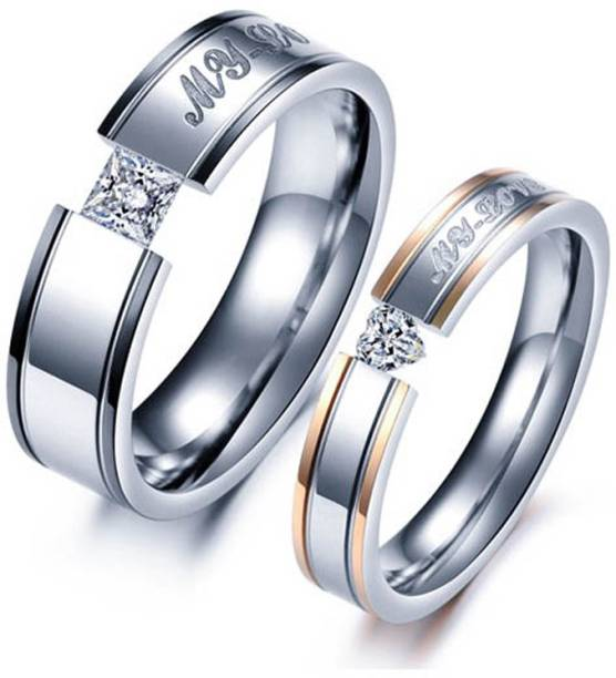 db9e21af1e5 Love Couple Rings - Buy Love Couple Rings online at Best Prices in ...