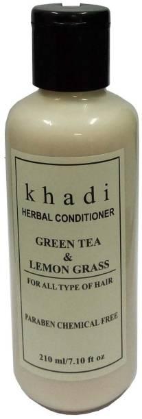 Khadi Herbal Green Tea & Lemon Grass hair conditioner (Paraben Free )