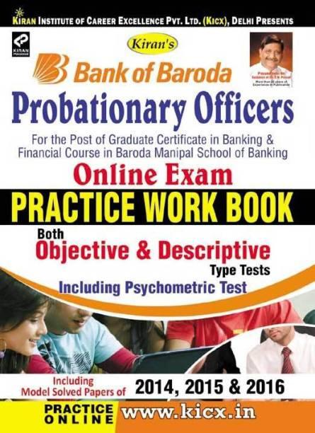 Bank Of Baroda Probationary Officers Online Exam Practice Work Book