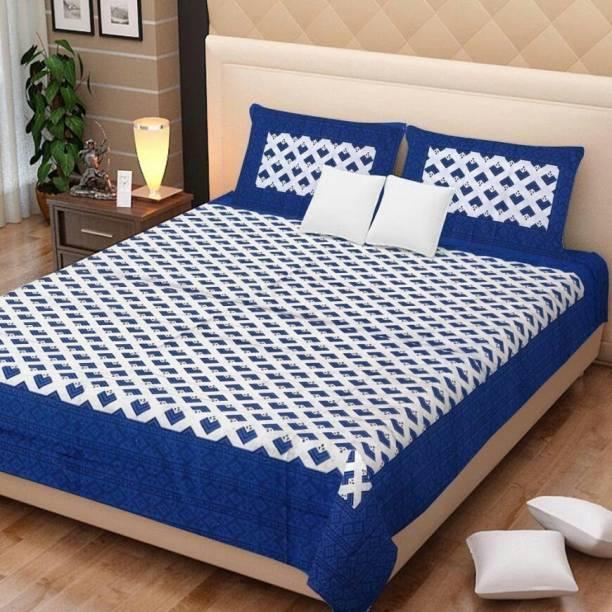 UniqueChoice@home 250 TC Cotton Double Printed Bedsheet