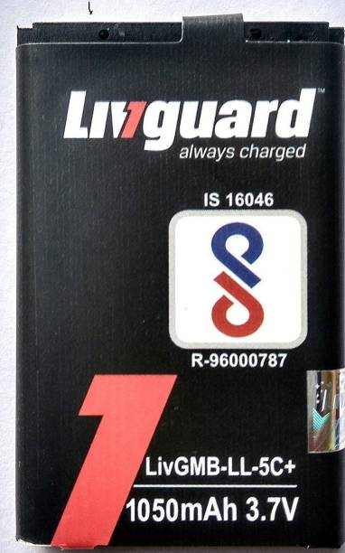 Livguard Mobile Battery For  Nokia 100, 101, 1100, 1108, 1110, 1112, 1101, 1209, 1280, 1616, 1650, 1680, 1800, 2323, 2626, 2700, 2710, 2730, 3109, 3110, 3120, 3610 (fold), 3650, 3660, 5030, 5130(xpress music), 1255, 1600, 2112, 2255, 2280, 2300, 2310, 2355, 2600, 2610, 3100, 3120, 3105, 3650, 6030, 6180, 6170, 6230, 6268, 6270, 6600, 6630, 6670, 6680, 6681, 6820, 7600, 7610, n70, n71, n72, n91, E50, E60, E70, N91i, NGAGE, 6085, 6086, 6555, 6267, 68225, C1-01, C200, C201, X201, X202, Arc11i,Arc12i,Nano2S,Nano 2X,Nano 3+,Star One, In 40C, In50C,Plantinum Mini, A-One+,Nano 2XL M BL 5C