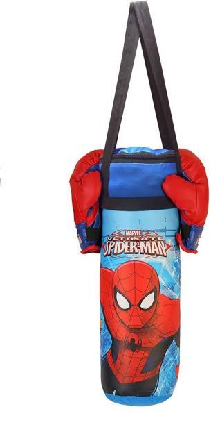 MARVEL Spider-Man Gloves and Punching Bag Set for Boxing
