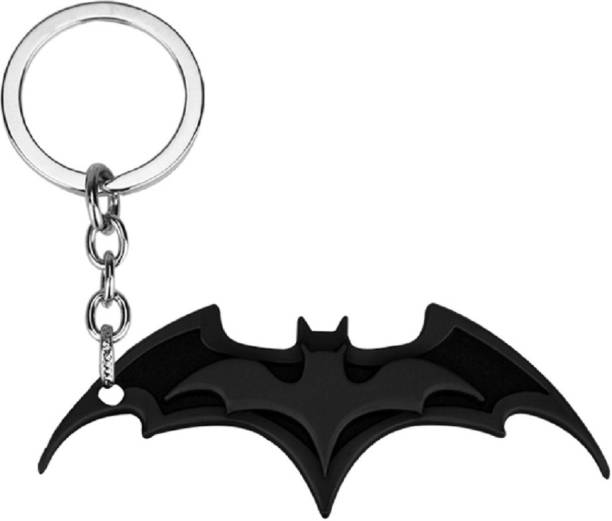 GCT Superhero DC Comics Character Batman Bat Man Black Metal Design-K Key  Chain f0464f9dccd5