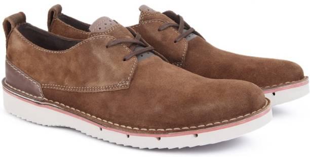 6c14e1e5a2b Clarks CAPLER PLAIN BROWN SDE Sneakers For Men