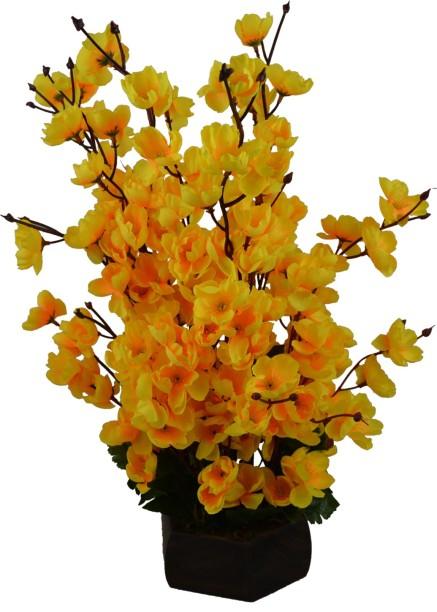 Fancymart Artificial Cherry Blossom Flowers (size 18 inchs/ 45 cms) With Wood Pot  sc 1 st  Flipkart & Still Life Flowers Plants Vases - Buy Still Life Flowers Plants ...