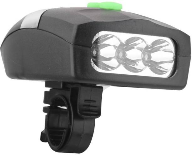 FurMito Multi Electric Bicycle Horn with Super Bright 3 LED Bicycle LED Front Light