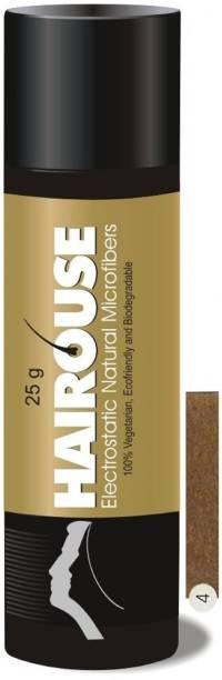 HAIROUSE Natural Hair Building Microfibers (Light Brown) Medium Hair Volumizer Natural Fibers