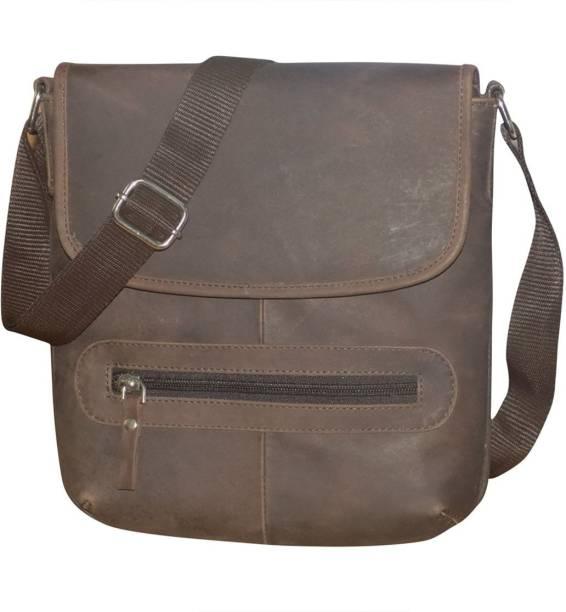 Kan Hunter Leather Travel Shoulder Bag Travel Pouch Sling Bag for Men    Women b1de56f05d9dd