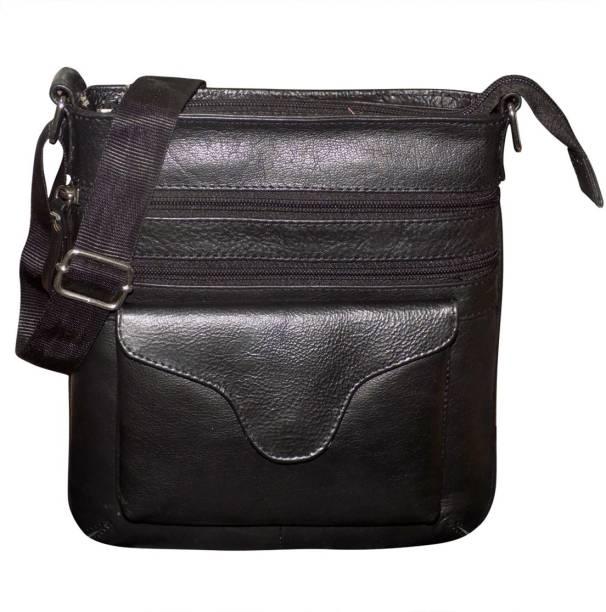 Kan Genuine Leather Travel Bag Messenger Bag Travel Pouch Sling Bag for Men e09fc2ed36432
