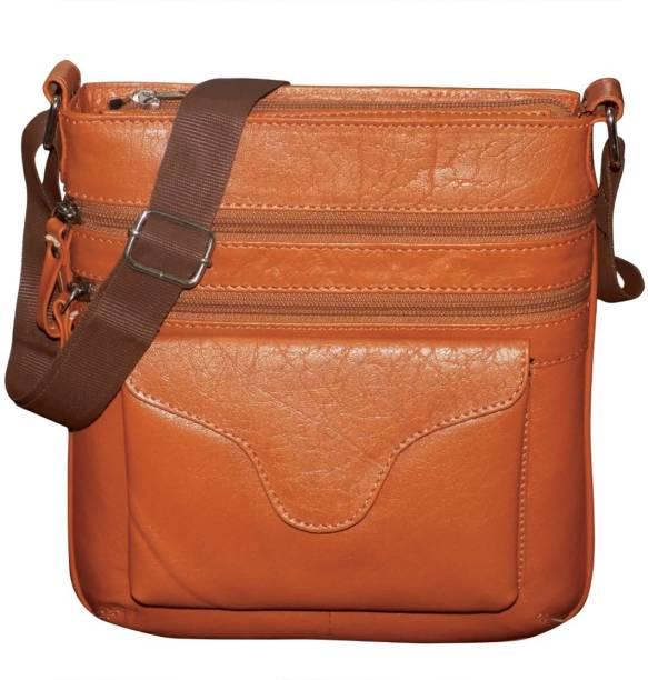 4c1bb4500491 Kan Genuine Leather Messenger Bag Travel Pouch Sling Bag for Men   Women 7