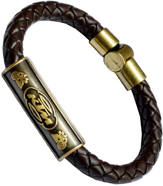 Men Style Leather, Stainless Steel Bracelet