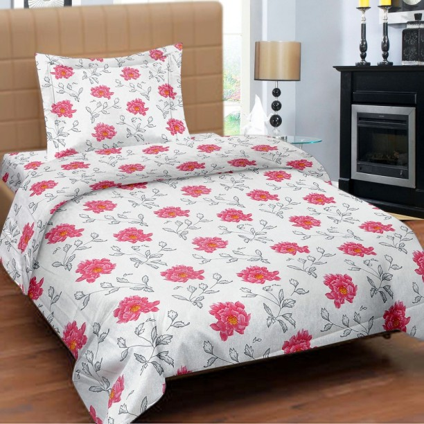 Cortina 104 TC Cotton Single Floral Bedsheet