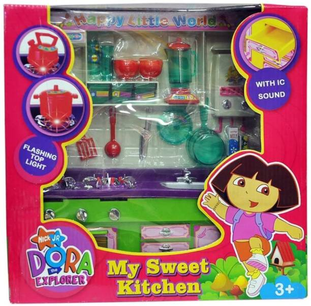 Kts Khalsa Toys And S Best Quality Dora Kitchen Set For Kids