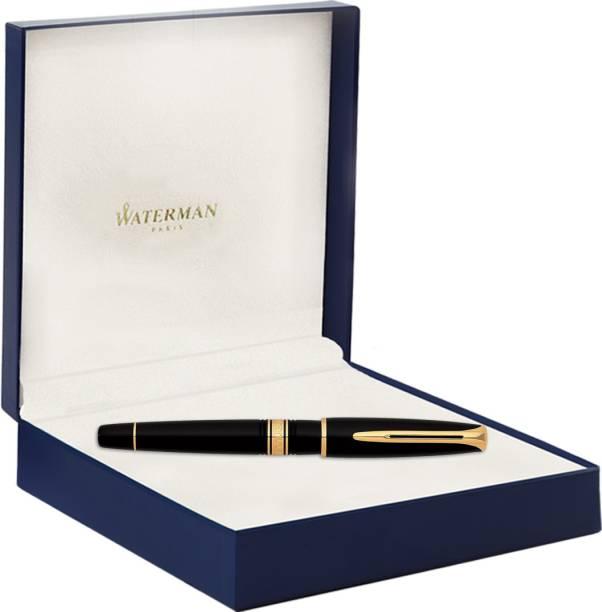 Waterman CHARLESTON EBONY BLACK GT Roller Ball Pen