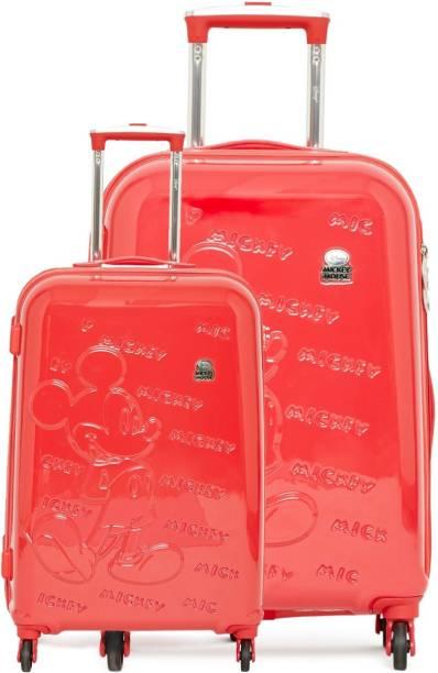 GAMME DISNEY GAMME RED MICKEY EMBOSS SET KIDS LUGGAGE TROLLEY BAG 20 INCH  Trolley 5126b0b667469