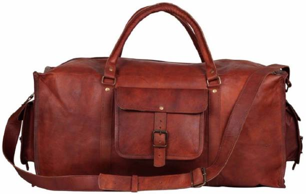 8641a22b2291 Pranjals House (Expandable) genuine leather duffle for gym travelling   overnite bag Travel