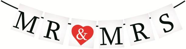 SYGA Mr And Mrs Banner Photo Booth Props Banner