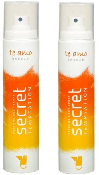 secret temptation Te Amo Breeze Perfume Pack of 2 Deodorant Spray  -  For Women