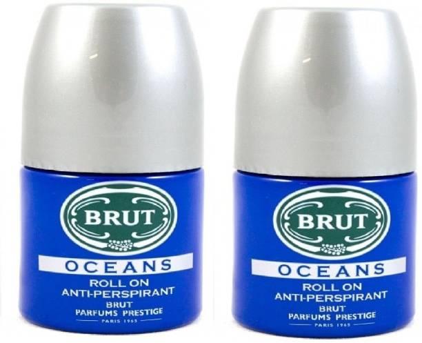 BRUT 2 Oceans Deodorant Roll-on  -  For Men & Women