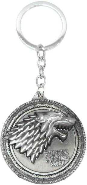 Aura Game Of Thrones Winter is Coming Round Metal Key Chain