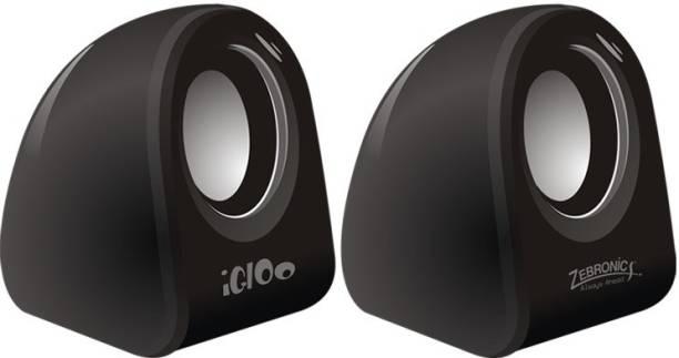 Zebronics Igloo Black Portable Mobile/Tablet Speaker Black, 2.0 Channel