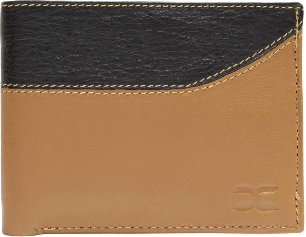 DEZiRE CRAfTS Men Casual, Evening/Party Tan, Black Genuine Leather Wallet