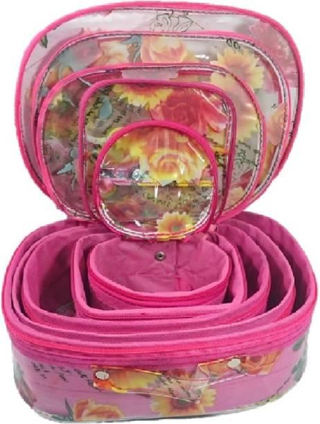 05ffbbcd2 Addyz Set of 5 Pcs Toiletry Shaving Makeup Bindi Bangle Socks Hanky Storage  Jewellery Organizer Vanity