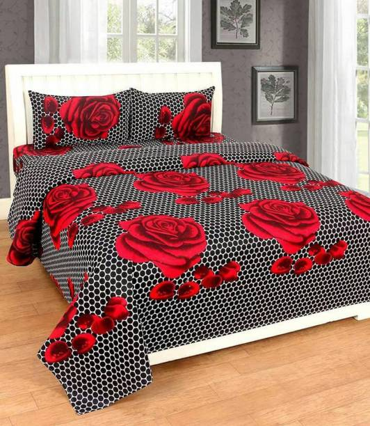 Exotic Cotton Double King Floral Bedsheet