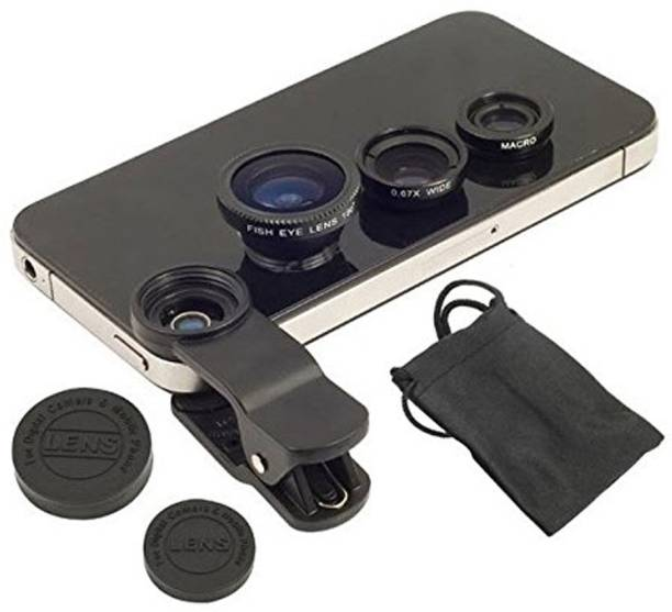 TCT 3-in-1 Clip-On Fisheye + Wide Angle + Macro Lens Set for All Smart Mobile Phone Lens