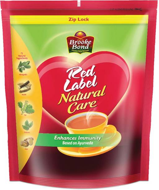 Red Label Natural Care Cardamom, Ginger, Liquorice, Tulsi Tea Pouch