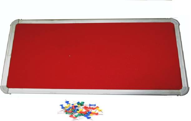 Action World 60X30 CENTIMETER RED Notice Board