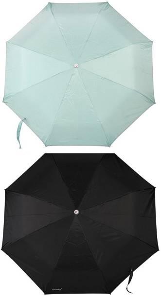 Bizarro.in 3 Fold Set of 2 Plain Office Men::Women_249 Umbrella