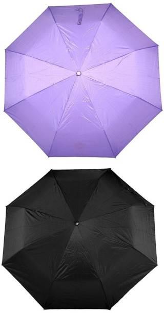 Bizarro.in 3 Fold Set of 2 Plain Office Men::Women_57 Umbrella