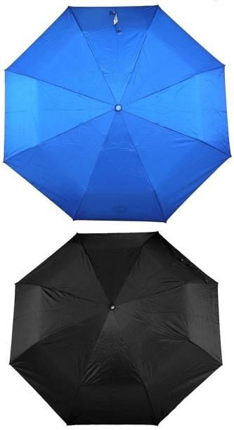 Bizarro.in 3 Fold Set of 2 Plain Office Men::Women_44 Umbrella