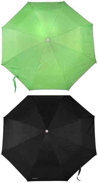 Bizarro.in 3 Fold Set of 2 Plain Office Men::Women_264 Umbrella
