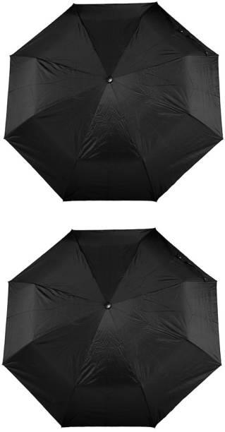 Bizarro.in 3 Fold Set of 2 Plain Office Men::Women_41 Umbrella