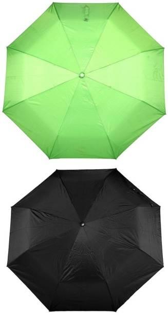 Bizarro.in 3 Fold Set of 2 Plain Office Men::Women_56 Umbrella