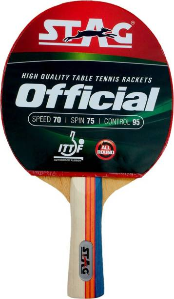 STAG Official Table Red, Black Table Tennis Racquet