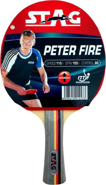 STAG Peter Fire table Table Tennis racquet Red, Black Table Tennis Racquet