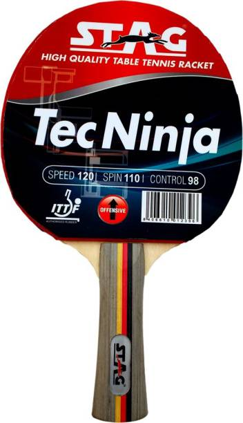 STAG Tec Ninja Table Tennis racquet Red, Black Table Tennis Racquet