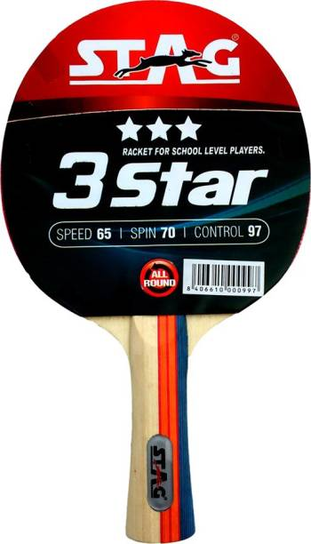 STAG 3 Star Red, Black Table Tennis Racquet