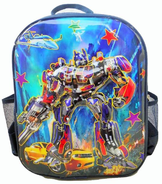 71c560b766 Royle Katoch Transformer Fever 3D IMPORTED SHEET MADE FOR SMALL KIDS  Waterproof School Bag