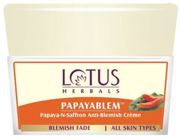 LOTUS HERBALS Papayablem Papaya-N-Saffron Anti-Blemish Cream