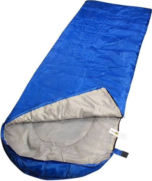 f0ce5bd8665 RuggedTrails All Season Waterproof Hooded Sleeping Bag (Single) with  Compression Carry Bag Sleeping Bag