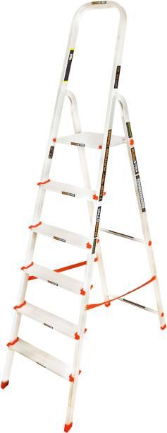 Eurostar Eurostar 6 Feet (5 Steps + Platform) Premium Diy Platform Stepladder Aluminium Ladder